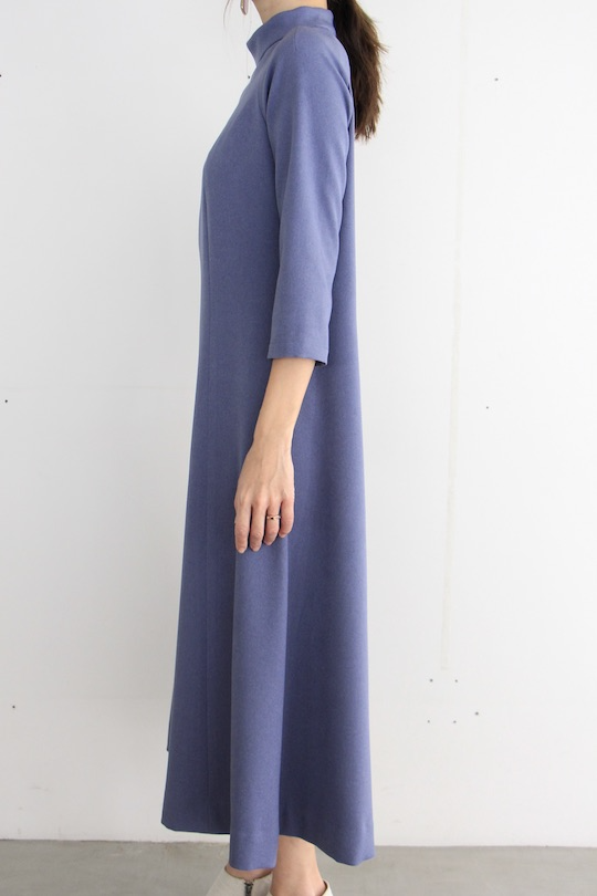LaLaLei high-neck blue dress