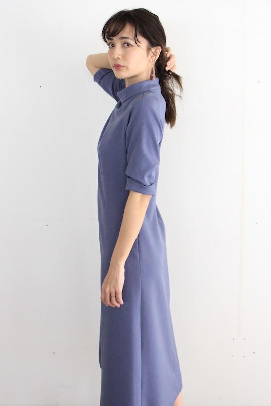 LaLaLei high-neck blue dress