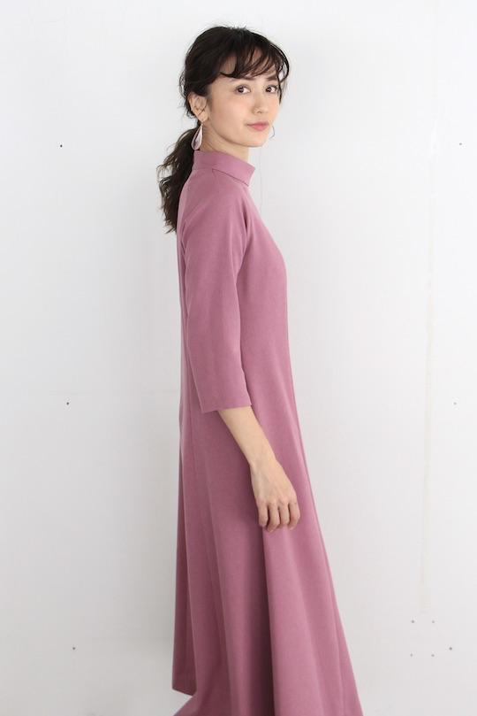 LaLaLei high-neck Iris color dress