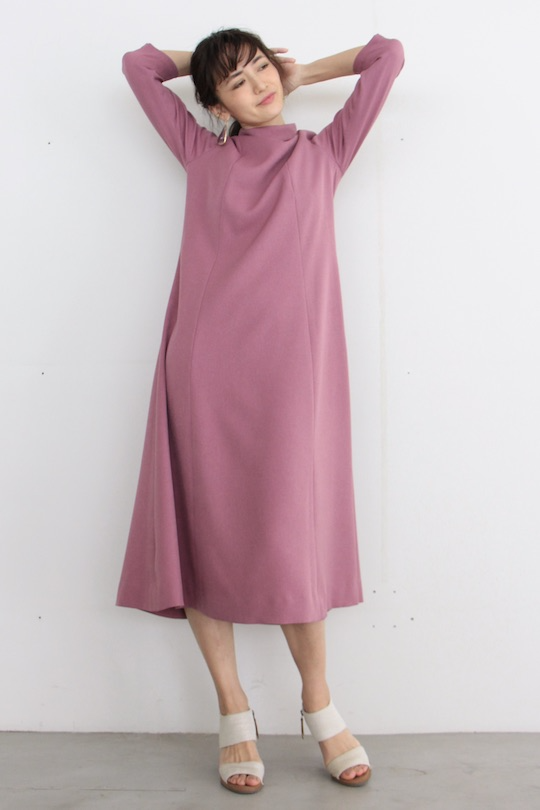 LaLaLei high-neck Iris color dress