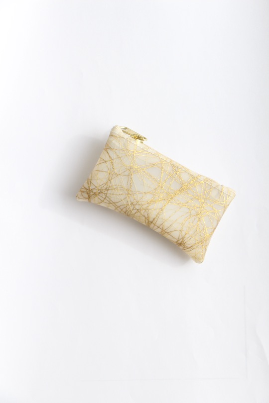 Luisa Cevese gold fabric coin case