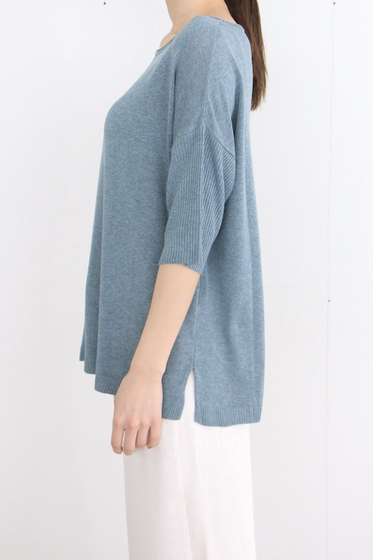 indi&cold Blue summer knit tops