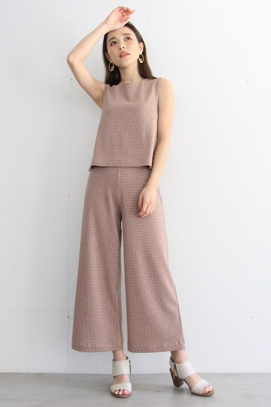 indi&cold Plaid Sleeveless tops Pink