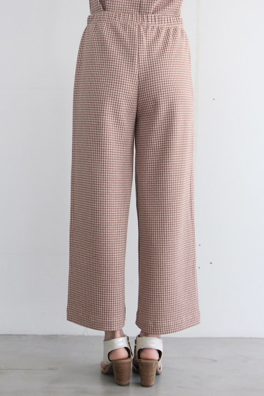 indi&cold Plaid wide pants Pink