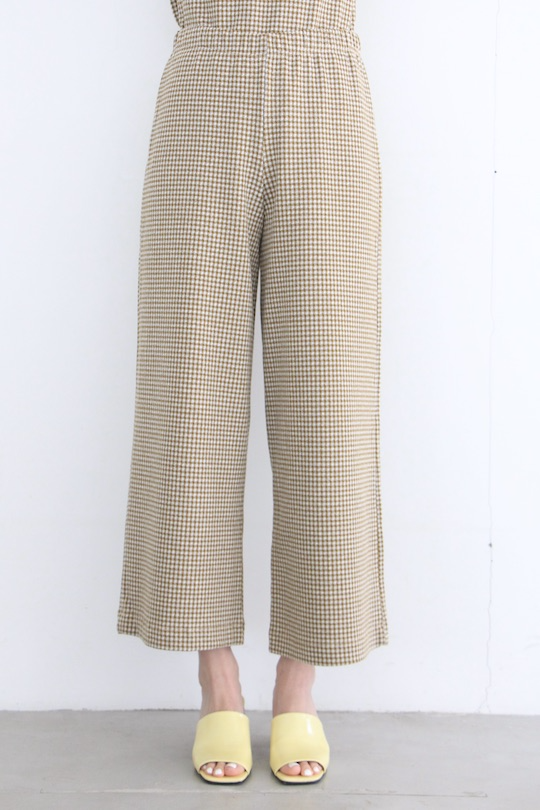 indi&cold Plaid wide pants Khaki