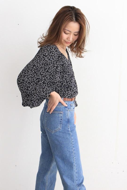 JUST dot chiffon blouse TOPS