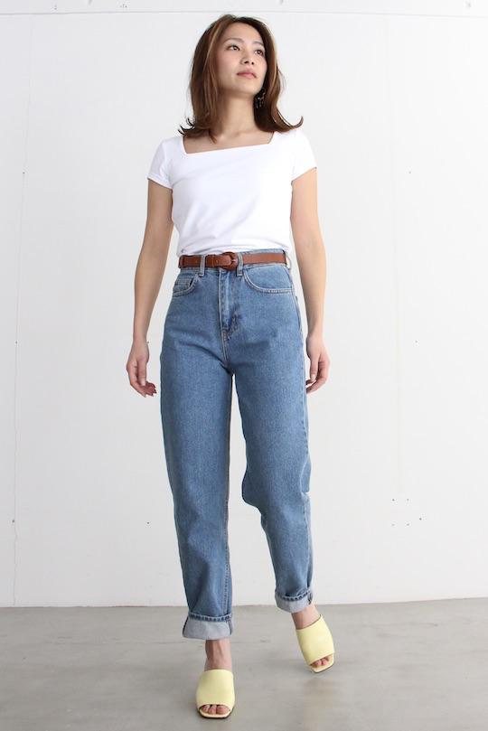 JUST high-waist organic cotton denim pts