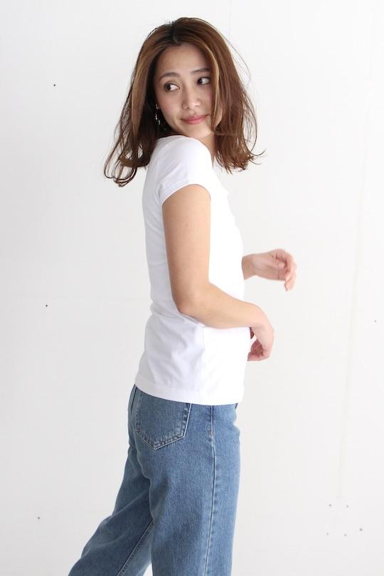 JAN 'N JUNE square neck white T-shirts