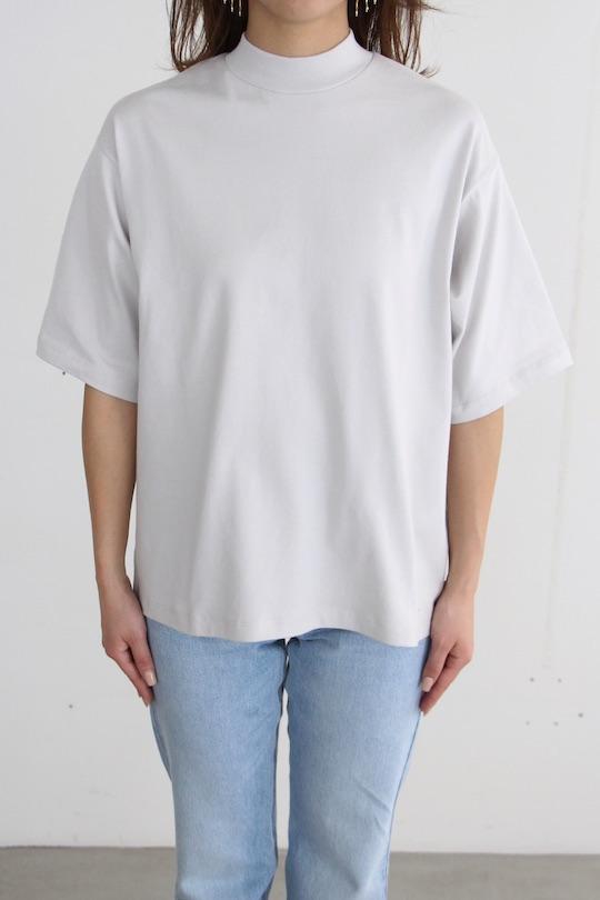 JUST high-neck organic cotton  gray TOPS