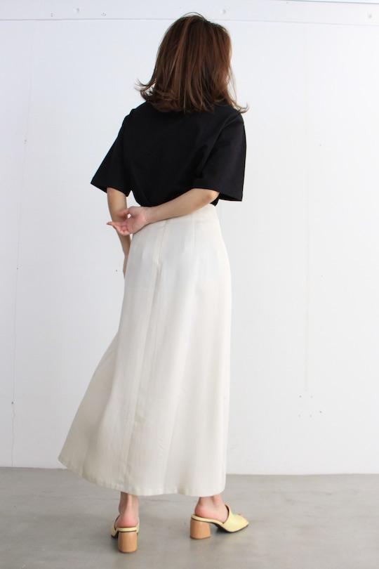 JAN 'N JUNE Lyocell × pleats beige SK