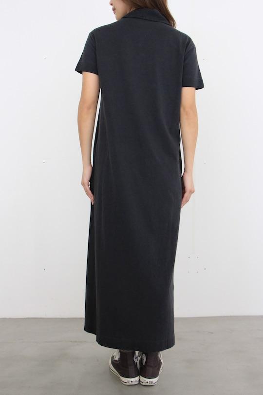 Leon&Harper organic cotton half-sleeve shirts dress BLACK
