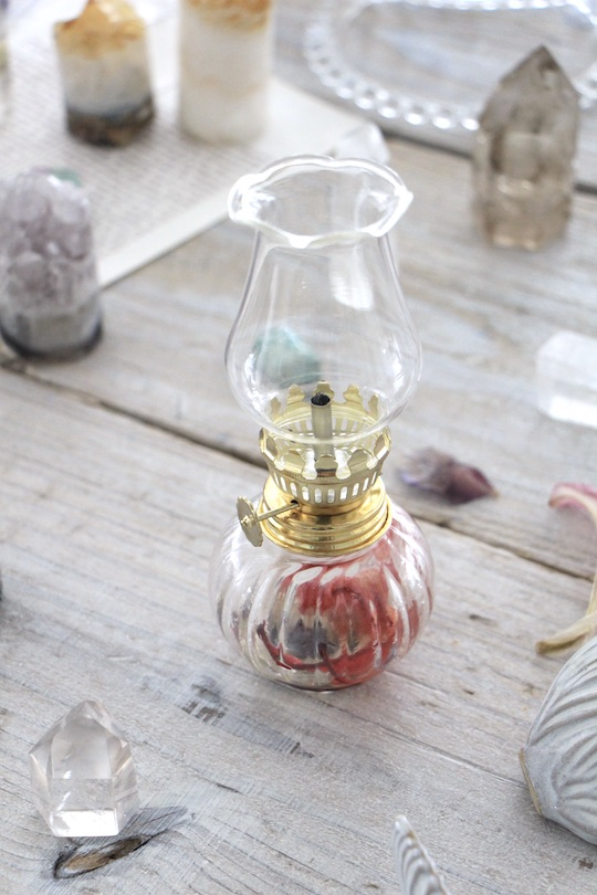 oil lamp =exotic dry flower =