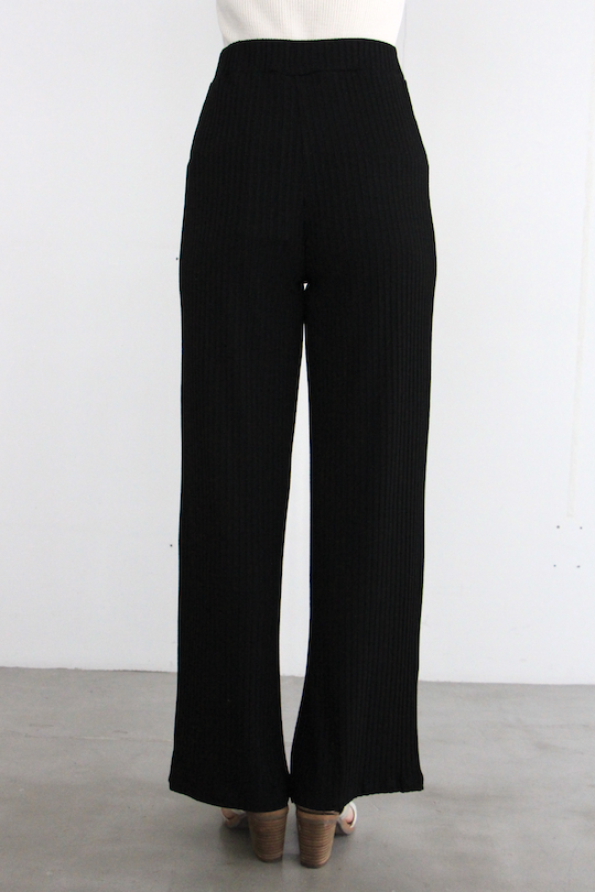 RITA ROW rib pants black