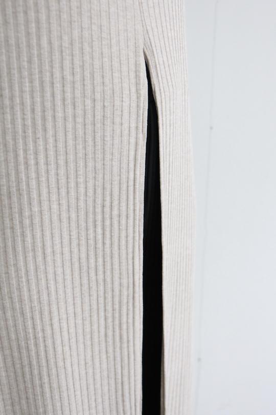 RITA ROW Front slit sleeve less tops beige