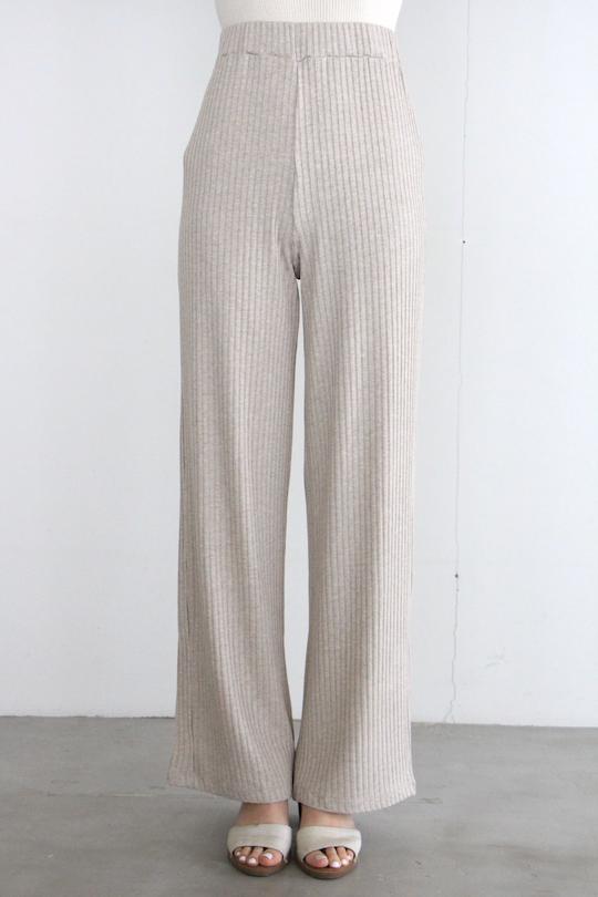 RITA ROW rib pants beige
