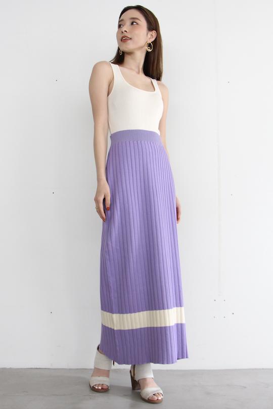 RITA ROW cotton tight skirt purple