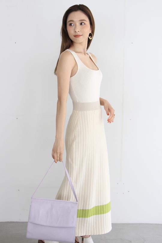 mila.vert organic cotton sleeve-less knit TOPS
