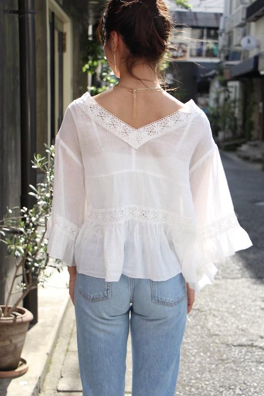 LaLaLei snowflake cotton bluse