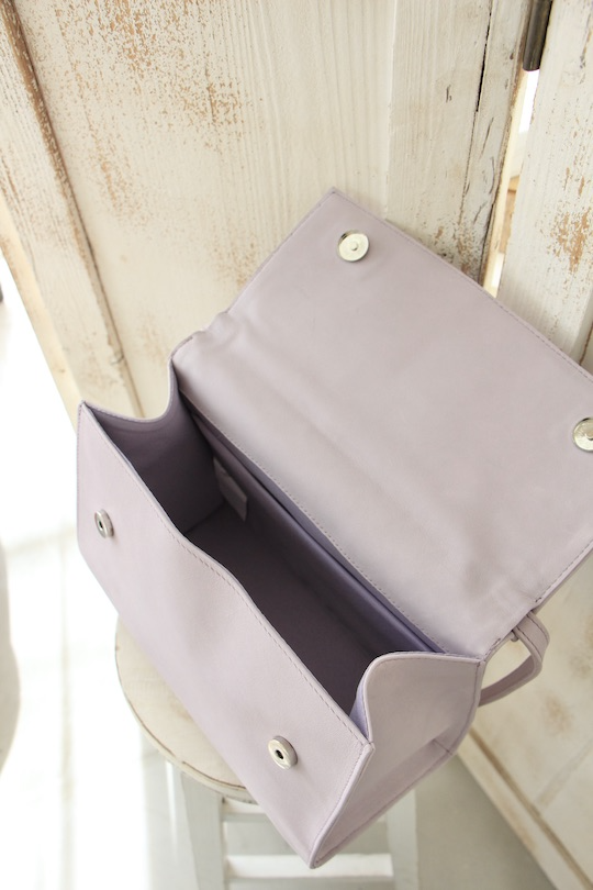RITA ROW purple leather bag