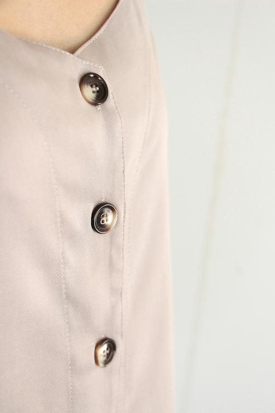RITA ROW front button tencel beige TOPS