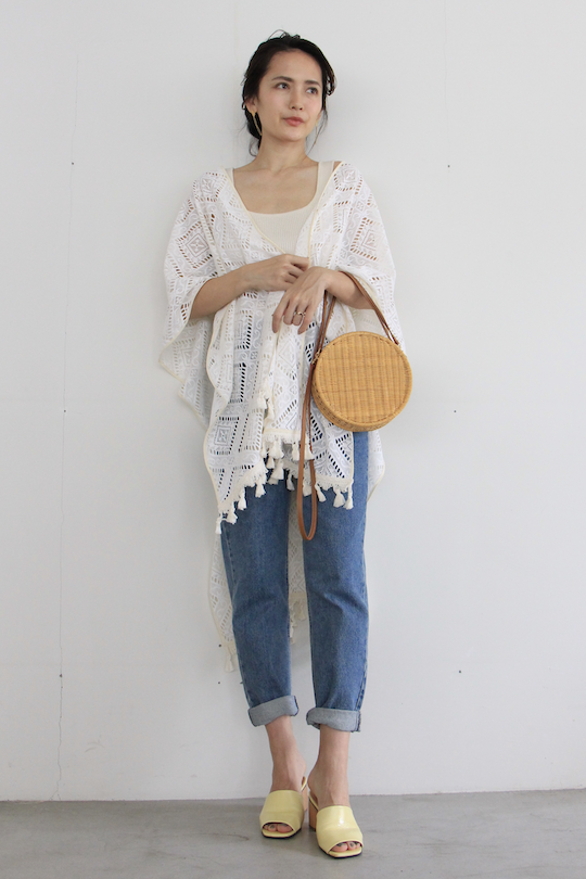 LaLaLei lace tassel poncho
