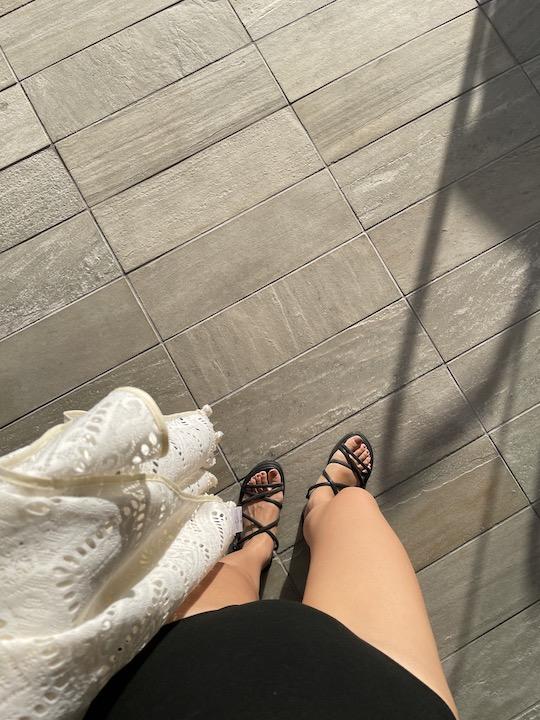 RITA ROW cross black sandals