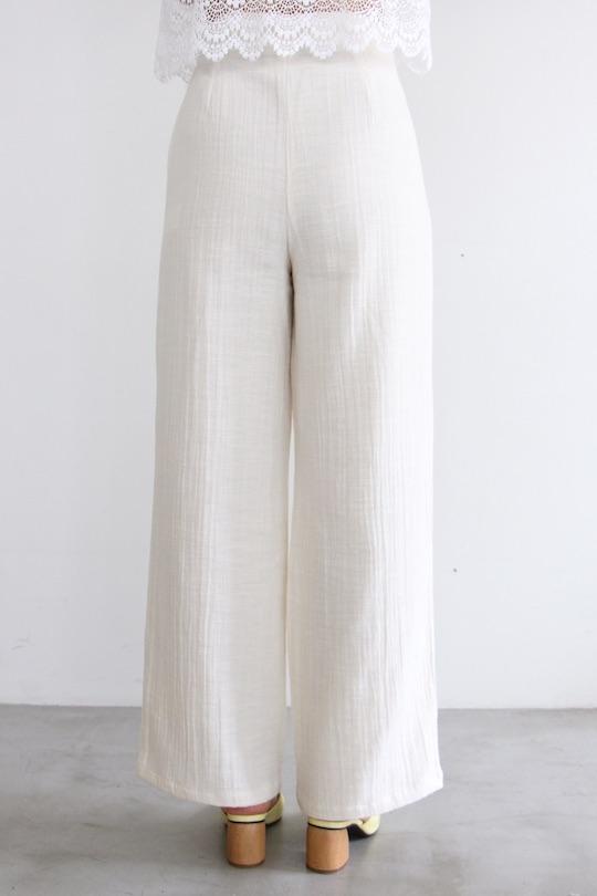 RITA ROW white summer cotton wide pts
