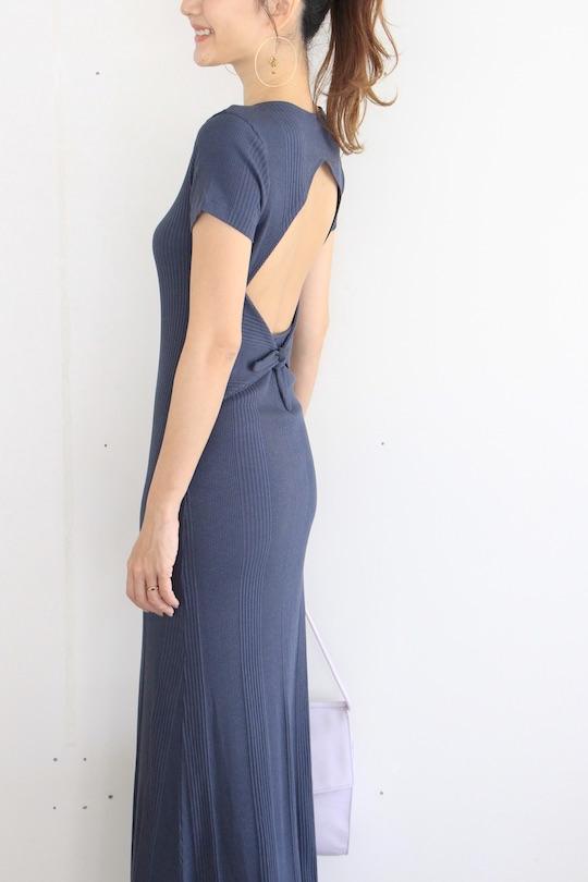 JAN 'N JUNE back open navy dress