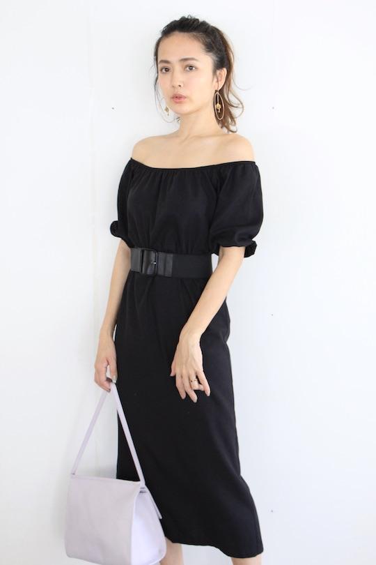 RITA ROW 2way black dress