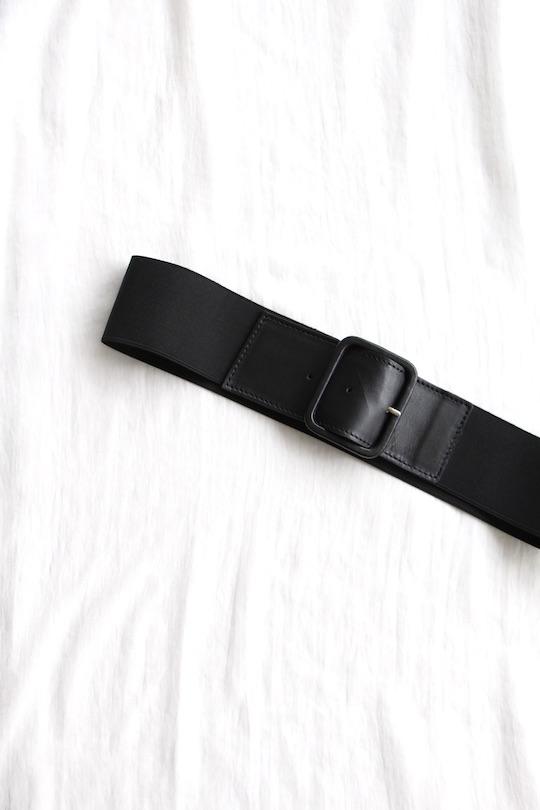 RITA ROW black rubber beltings