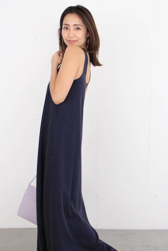 mila.vert sleeveless 2way tencel dress NAVY