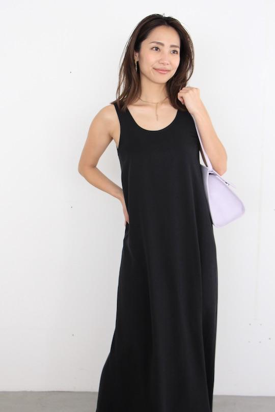 mila.vert sleeveless 2way tencel dress BLACK