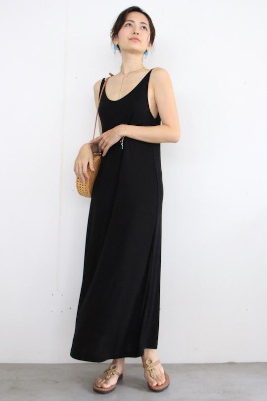 JAN 'N JUNE black camisole dress