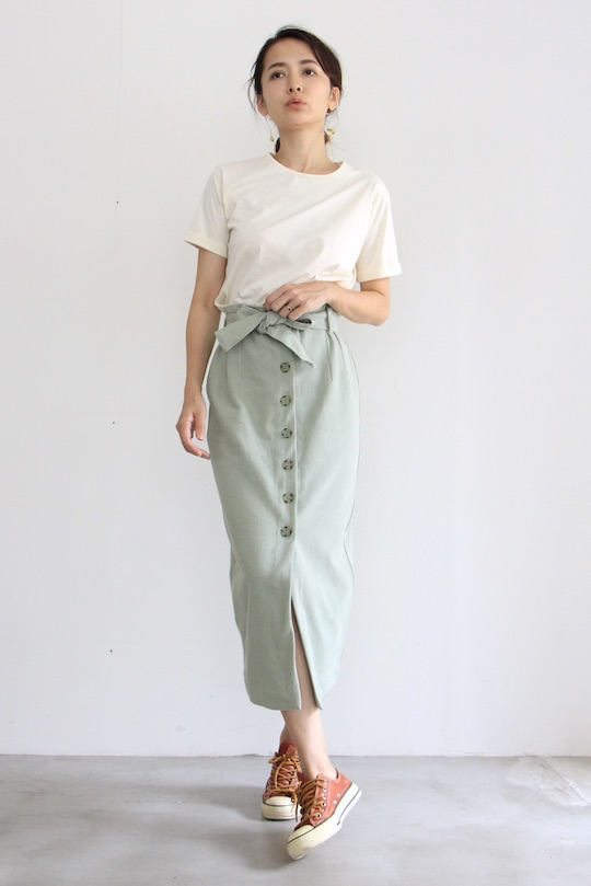 RITA ROW denim skirt green