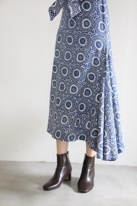 cleobella back open oriental design dress