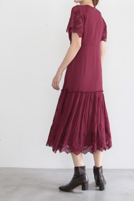 indi&cold Bordeaux chiffon dress