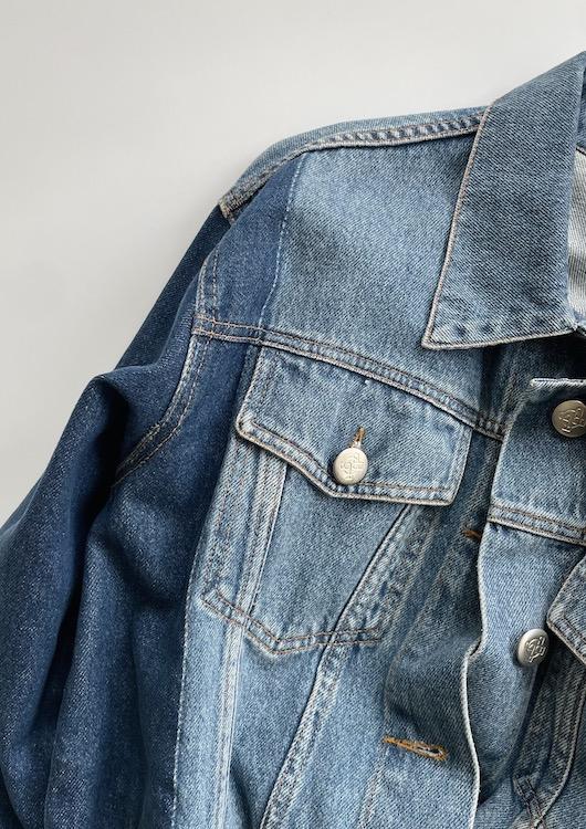 JUST bicolor denim jacket