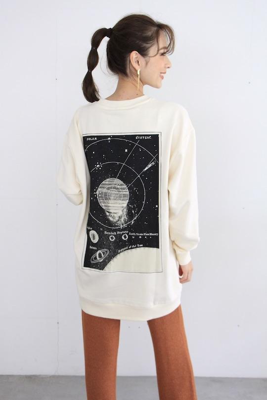 JUST back printed sweatshirt (white)