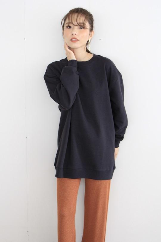JUST back printed sweatshirt (black)