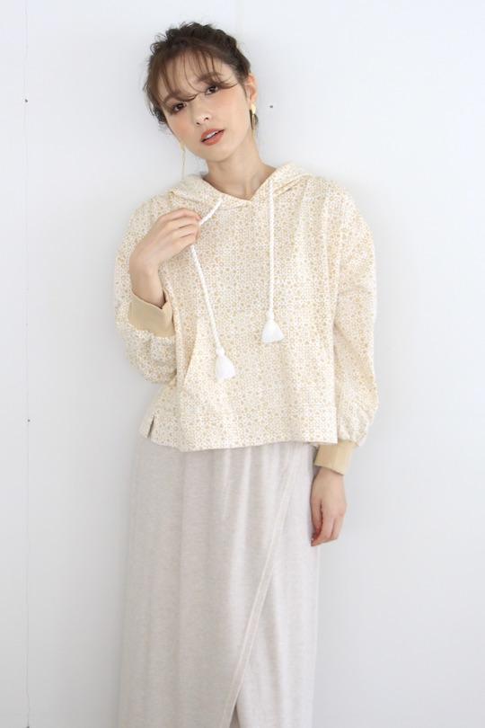 cleobella oriental design hoodie