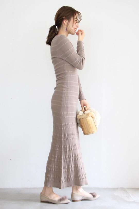 JUST beige knit maxi dress