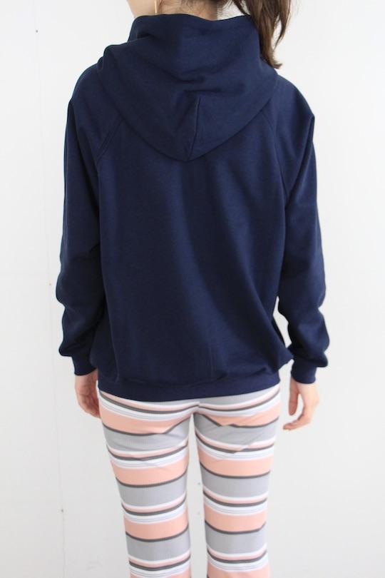 mila.vert organic cotton hoodie sweat navy TOPS