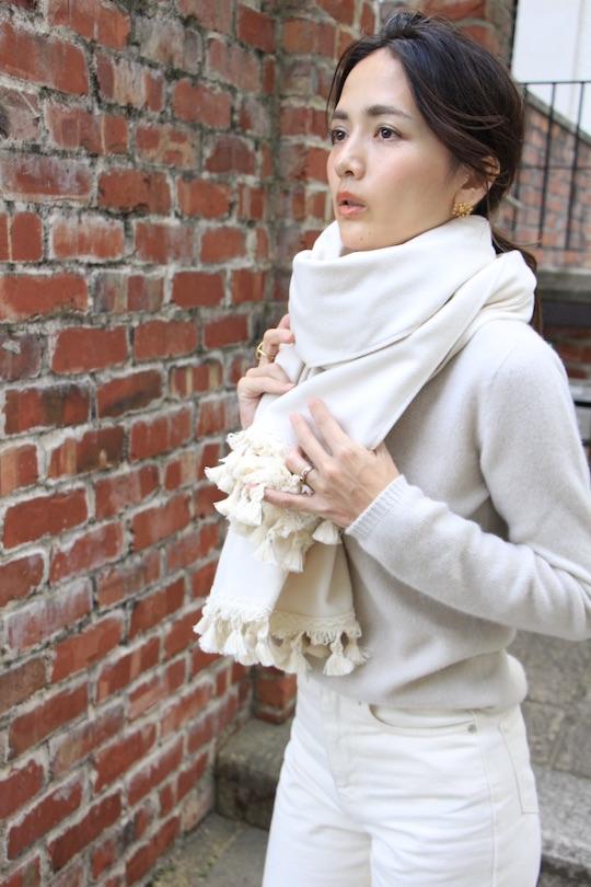 LaLaLei wool tassel poncho