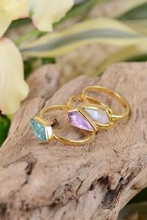 katie diamond jewelry rhombus stone ring