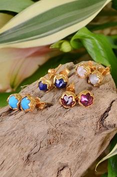 Katie diamond jewelry stone earrings