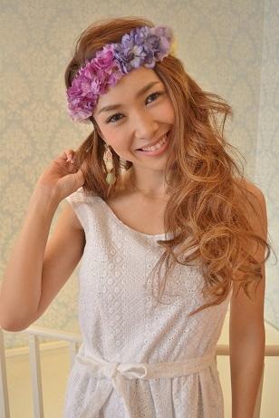 RueBelle Purple flower lei hairband