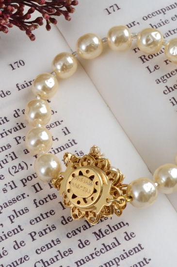 MIRIAM HASKLL gold flower×pearl bracelet