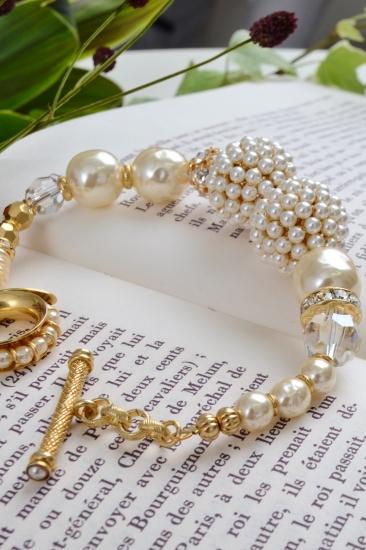 MIRIAM HASKELL pearl ball bracelet