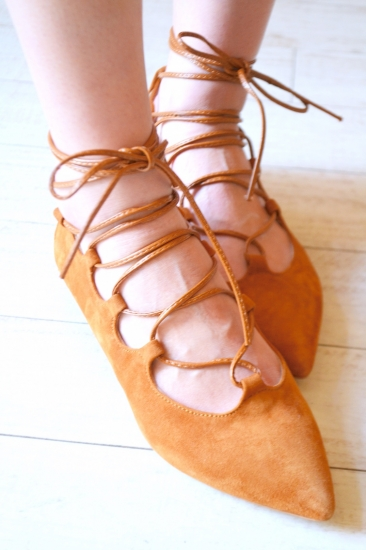 Ovye lace up pumps