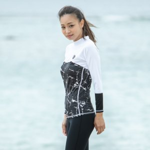 AsianFit Long-Body RushGuard BK-Marble